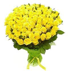 Букет из 101 желтой кенийской розы