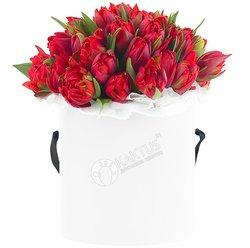 Композиция с красными тюльпанами №20