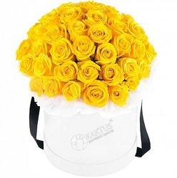 Композиция с желтыми розами №12