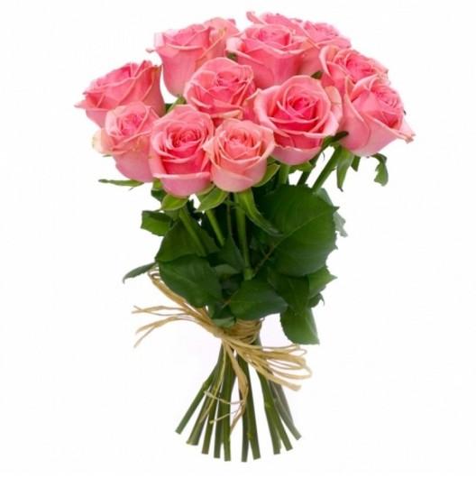 Букет из 9 розовых роз в интернет магазине kaktus-24.ru