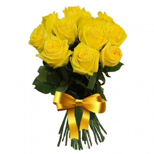 Букет из 9 желтых роз в интернет магазине kaktus-24.ru
