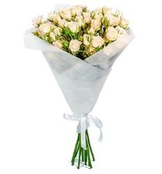 Букет из кремовых кустовых роз №42
