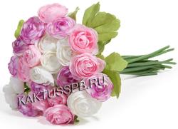 Букет белых и розовых лютиков