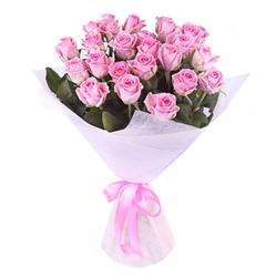 Букет розовых роз.