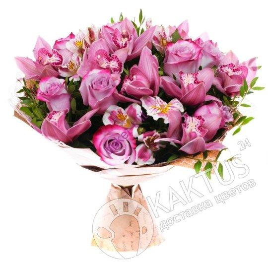 Букет орхидей и роз