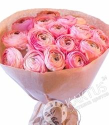 Розовые ранункулюсы.