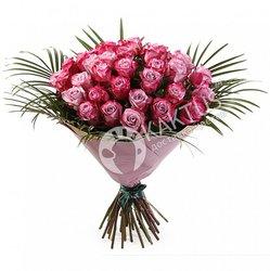 Букет из 45 сиреневых роз